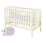 more details on Baby Elegance Laba Cot with Mattress - Cream.