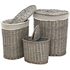 more details on Premier Housewares Set of 3 Willow  Laundry Baskets.
