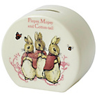 more details on Beatrix Potter Flopsy Mopsy Cotton Tail Money Bank.