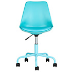 more details on Mid-Back Gas Lift Brady Office Chair - Blue