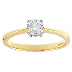 more details on 9ct Gold 0.25ct Diamond Solitaire Ring.