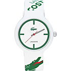 more details on Lacoste Unisex Goa Green and White Strap Watch.