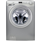 more details on Candy GV148D3S 8KG 1400 Washing Machine- Silver/Ins/Del/Rec.