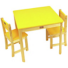 more details on Liberty House Toys TikkTokk Boss Table and Chair Set Yellow.