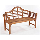 more details on Lutyens Style Hardwood Garden Bench - Natural.