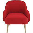 more details on Habitat Momo Fabric Armchair - Red.