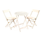 more details on Greenhurst Hardwood Bistro Set with Cushions - White.