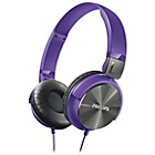 more details on Philips SHL3160 DJ Style On-Ear Headphones - Purple.