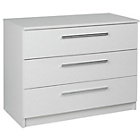 more details on Sparkle 3 Drawer Chest - White.