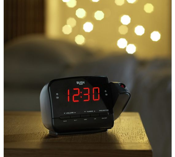 buy bush projection alarm clock at your online shop for clock radios home audio. Black Bedroom Furniture Sets. Home Design Ideas