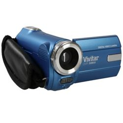 Vivitar DVR908M 9.1MP 720p HD Ultra Compact Digital Camcorder - Blue