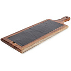 more details on Acacia Paddle Chopping Board with Slate Plate - Twin Pack.
