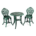 more details on Greenhurst Resin Tulip Bistro Set - Verdigris.