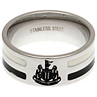 more details on Stainless Steel Newcastle Utd Striped Ring - Size X.