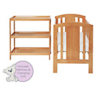 more details on Baby Elegance Laba Cot, Mattress and Changer Set - Pine.