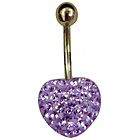 more details on Link Up Gold Plated Crystal Heart Belly Bar.