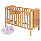more details on Baby Elegance Laba Cot with Mattress - Pine.