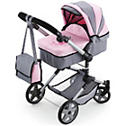 more details on Bayer Dolls Combi Pram - Pink and Grey.
