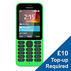 more details on O2 Nokia 215 Mobile Phone - Green.