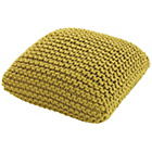 more details on Habitat Knot Small Knitted Pouf - Mustard Yellow.