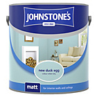 more details on Johnstone's Matt Paint 2.5L - New Duck Egg.