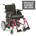 more details on Energi 18 Power Wheelchair - Red.