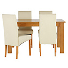 more details on Heart of House Hastings Ext Table & 4 Cream Skirted Chairs.