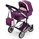 more details on Bayer Combi Dolls Pram - Plum and Pink.