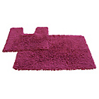 more details on Tufted Twist 2 Piece Bath Mat Set - Fuchsia.
