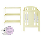more details on Baby Elegance Laba Cot, Mattress and Changer Set - Cream.