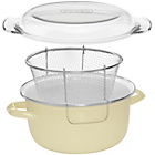 more details on Premier Housewares Enamel Deep Fryer - Cream.