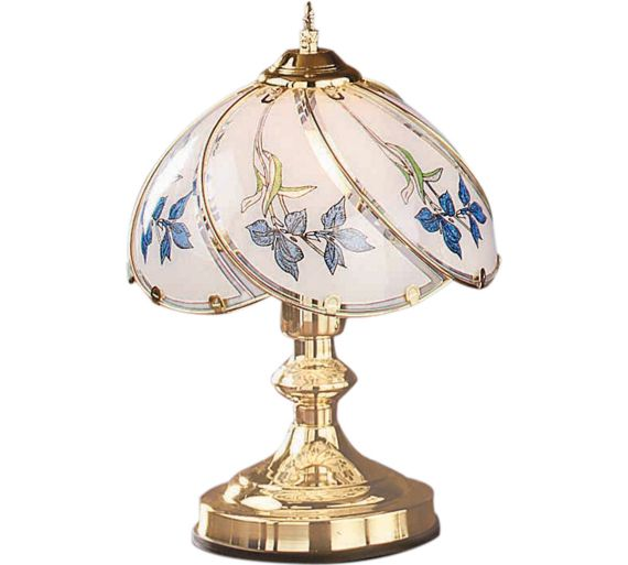 Buy home iris touch table lamp brass at argoscouk for Quicker table lamp