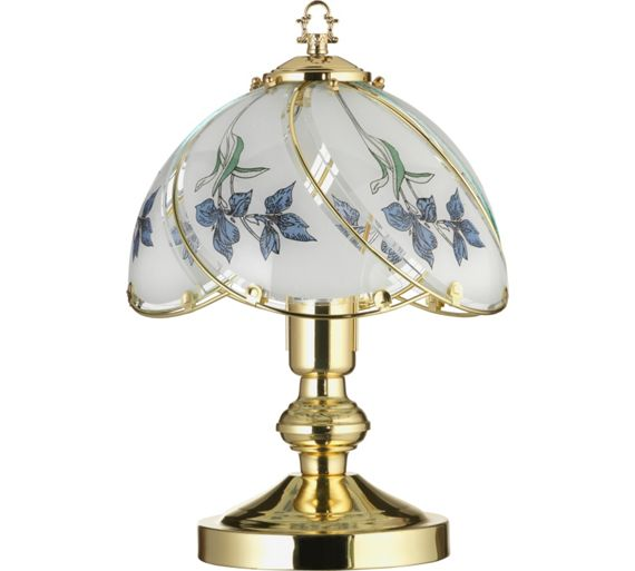 Buy home iris touch table lamp brass at for Table lamps argos
