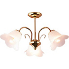 more details on HOME Carolina 3 Light Ceiling Fitting - Polished Brass.