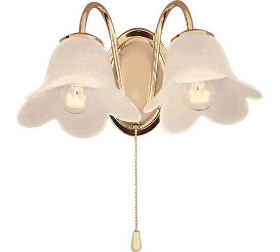 Twin Fixed Wall Lights : Buy HOME Carolina Twin Wall Light - Polished Brass at Argos.co.uk - Your Online Shop for Ceiling ...