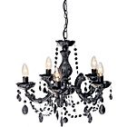more details on Inspire Chandelier 5 Light Ceiling Fitting - Black.