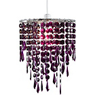 more details on Living Beaded Light Shade - Blackcurrant.
