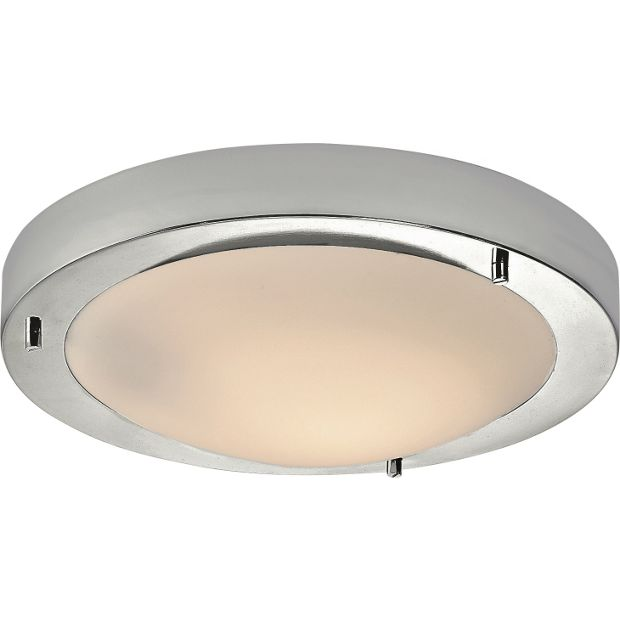 buy home flush bathroom ceiling fitting chrome at argos. Black Bedroom Furniture Sets. Home Design Ideas