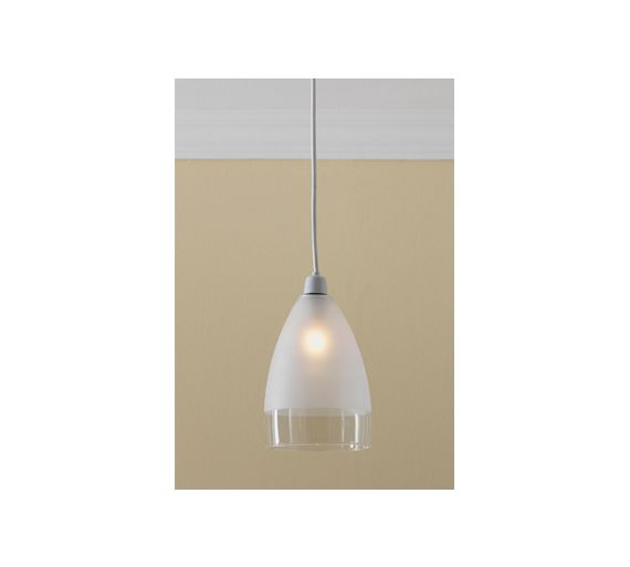 Argos Wall Lamp Shades : Buy HOME Glass Pendant Shade - Clear and Frosted at Argos.co.uk - Your Online Shop for Lamp ...