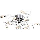 more details on HOME Belize 10 Light Ceiling Fitting - Silver.