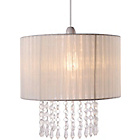 more details on Living Grazia Voile Droplets Light Shade - Cream.