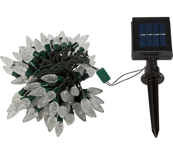 Buy HOME White Solar String Lights - Set of 100 at Argos.co.uk - Your Online Shop for Solar ...