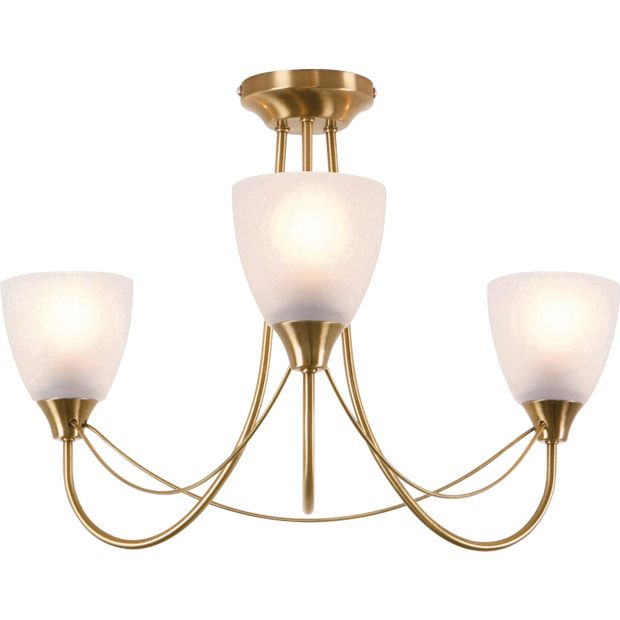 Switched Chandelier Wall Lights : Buy HOME Symphony 3 Light Ceiling Fitting - Antique Brass at Argos.co.uk - Your Online Shop for ...