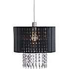 more details on Living Grazia Voile Droplets Light Shade - Black.