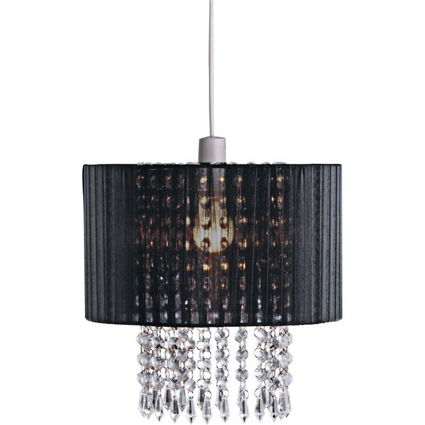 buy collection grazia voile droplets shade black at. Black Bedroom Furniture Sets. Home Design Ideas