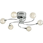 more details on Orb 6 Light Ceiling Fitting - Silver.