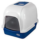 more details on Pet Brands Oval Cat Litter Tray with Hood - Blue.