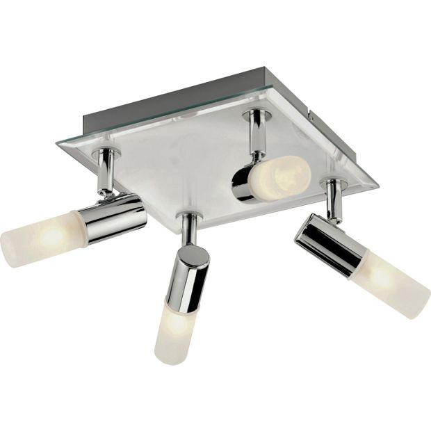 Buy Collection Milano Square 4 Light Bathroom Spotlight Chrome At Argos Co Uk Your Online