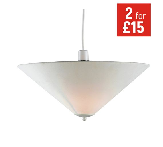 Argos Wall Lamp Shades : Buy HOME Set of 2 Fabric Uplighter Shades - Cream at Argos.co.uk - Your Online Shop for Lamp ...