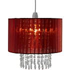 more details on Living Grazia Voile Droplets Light Shade - Red.